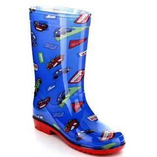 Jelly Beans Girls 'Cama' Blue Jelly Knee-high Rain Boots