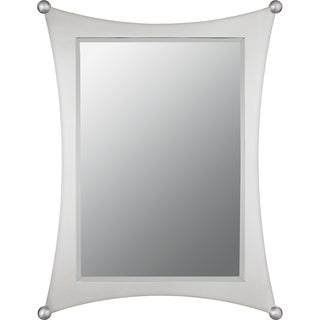 Jasper Small Brushed Nickel Curved-frame Mirror