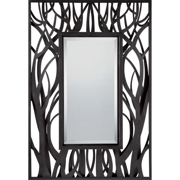 Huntsman Black Mystical Forest Large Mirror