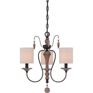 Lena 3-light Mystic Black Chandelier