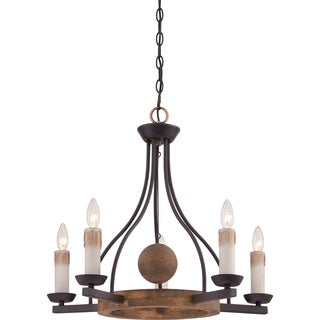 Hampshire 5-light Western Bronze Chandelier