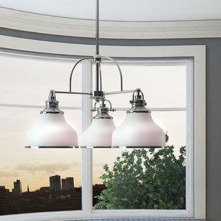Grant 3-light Dinette Chandelier with Glass Shades