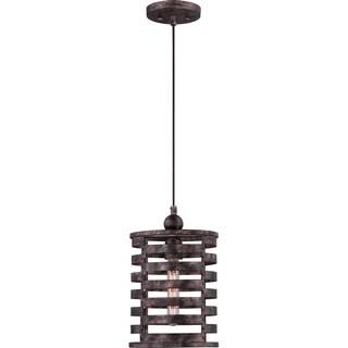 Nikos Burnished Silvertone Caged Cord-hung Mini Pendant