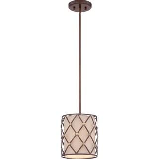 Brown Lattice Copper Canyon 1-light Mini Pendant