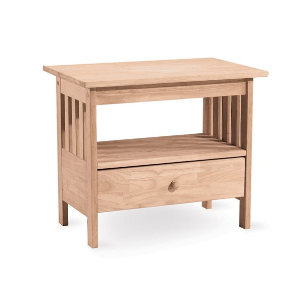 Unfinished Solid Parawood Mission TV Stand