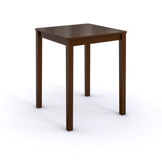 Rich Mocha Shaker-style Square Counter Height Table
