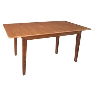 Cinnamon/ Espresso Dining Table with Butterfly Extension