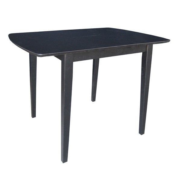 Black Wood Straight Leg Table with Butterfly Extension