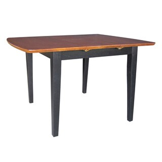 Black/ Cherry Top Wood Table with Butterfly Extension