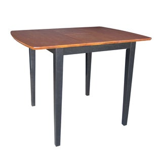 Black/ Cherry Top Straight Leg Counter-height Table