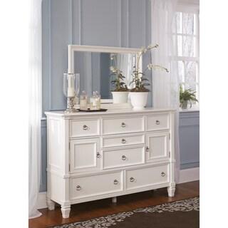 Signature Design by Ashley Prentice White Dresser and Mirror