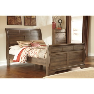 Signature Design by Ashley Allymore Vintage Brown Sleigh Bed