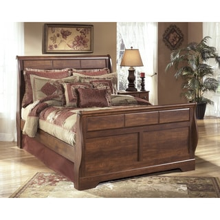 Signature Design by Ashley Timberline Queen-size Warm Brown Sleigh Bed