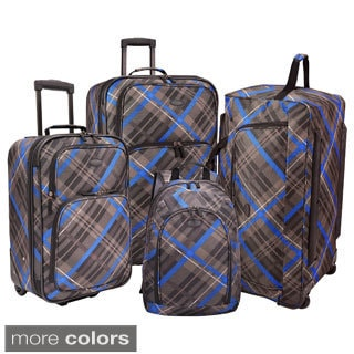 U.S. Traveler Camarillo 4-piece Casual Plaid Luggage Set