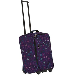 Calpak 'Zorro' Purple Floral 20-inch Washable Rolling Carry-on Bag