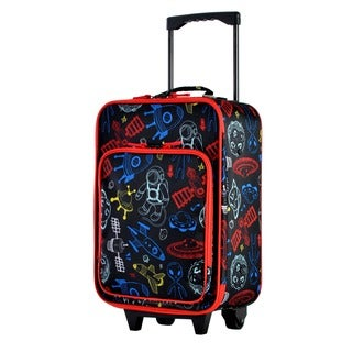 Olympia Kids' 19-inch Black Carry-on Upright Suitcase