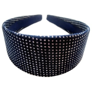 Crawford Corner Shop Dark Denim Silvertone Speckles Headband