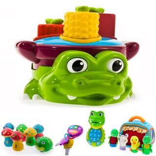 Puddle Jump Croc Pot Shape Sorter 4-piece Play Set