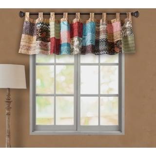 Greenland Home Fashions Bohemian Patchwork Window Valance