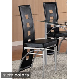 Los Feliz Upholstered Metal Dining Chair (Set of 2)