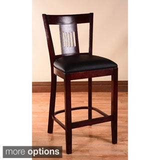 Violin Leatherette Upholstered Counter Stool