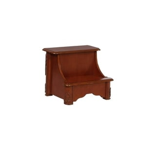 Oh! Home Gabrielle Woodbury Mahogany Bed Steps with Storage - overpacked