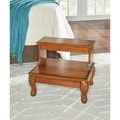 Powell Attic Cherry 'Antique Cherry' Bed Steps with Drawer - overpacked