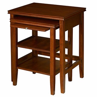 Powell Shelburne Cherry 2-piece Nested Tables