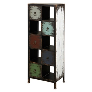 Powell Parcel 'Cinnamon' 5-drawer, 5-cubby Chest
