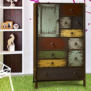 Oh! Home Northampton Cinnamon 1-door, 10-drawer Accent Chest