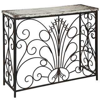 Powell Parcel 'White' Console Table