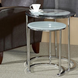 Powell World Map Printing Set of 2 Nesting Tables