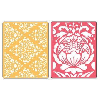 Sizzix Textured Impressions Baroque & Flowertopia Embossing Folders by Dena Designs (2 Pack)