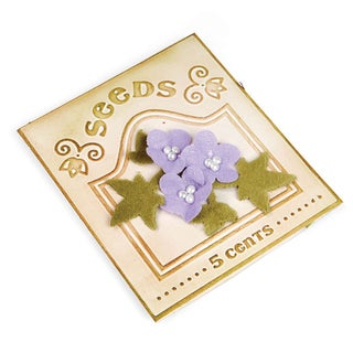 Sizzix Textured Impressions Rosebuds & Seed Packet Embossing Folders Set by Eileen Hull (2 Pack)