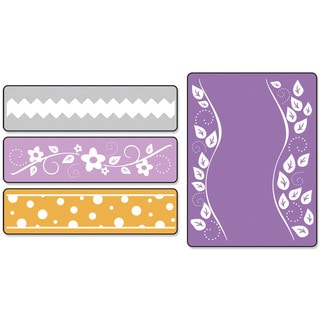 Sizzix Textured Impressions Dots, Flowers & Rick-rack Embossing Folders Set by Eileen Hull (4 Pack)