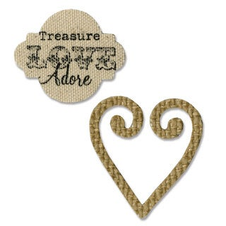 Sizzix Movers & Shapers Heart & Label Magnetic Die Set by Eileen Hull (2-pack)