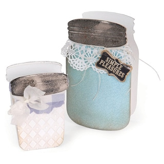 Sizzix ScoreBoards Canning Jars 3-D XL Die by Eileen Hull