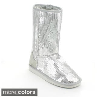 Forever Women's 'Aling-7' Sequined Mid-calf Boots