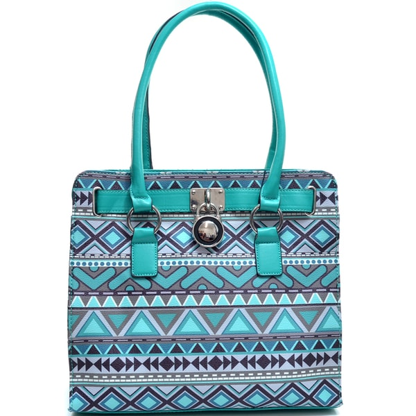 Dasein Tribal Print Adjustable-top Tote Bag