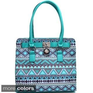 Dasein Tribal Print Adjustable-top Tote Bag