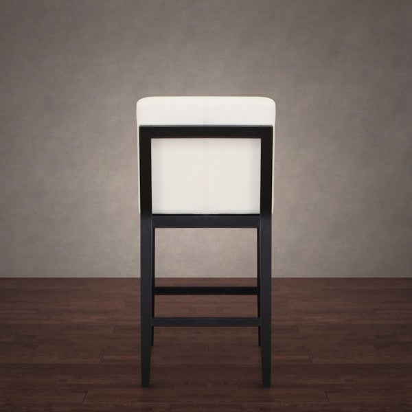 Bobby Modern White Leather Counter Stool
