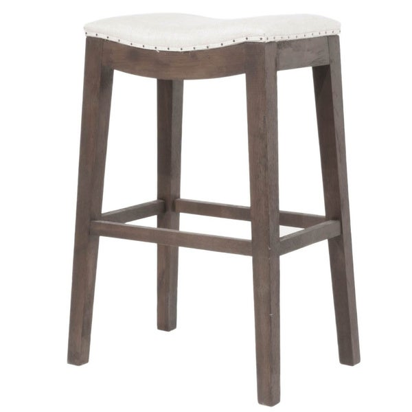 Colton Bisque French Linen Barstool 16597409 Overstock