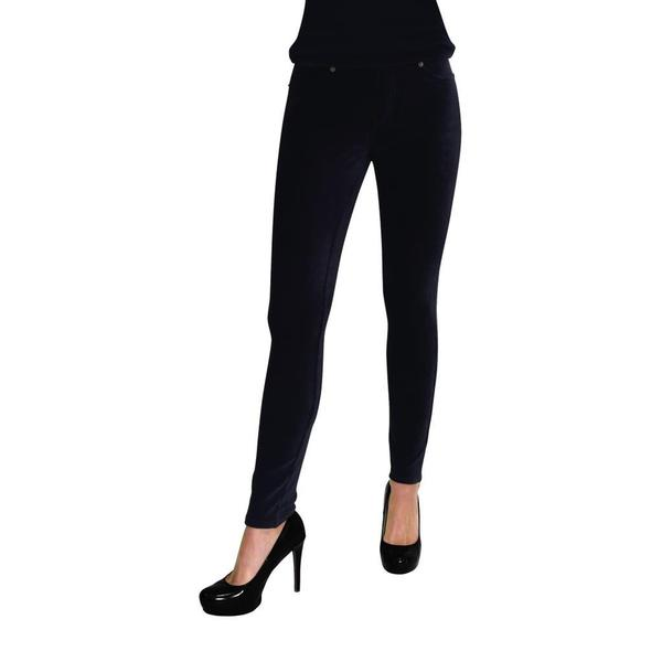 MeMoi Women's Black Thin Ribbed Corduroy Leggings