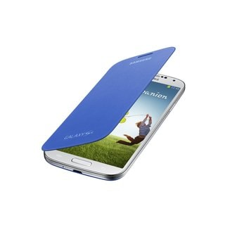 Samsung Galaxy S 4 Mini Flip Light Blue Cover Folio Case