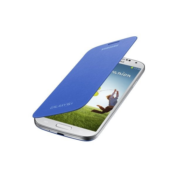 Samsung Galaxy S4 Flip Light Blue Cover Folio Case