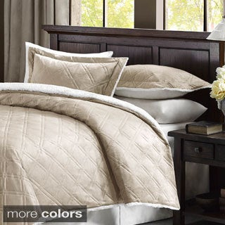 Premier Comfort Lowell Double Diamond Mink Reverse to Berber Comforter Mini Set