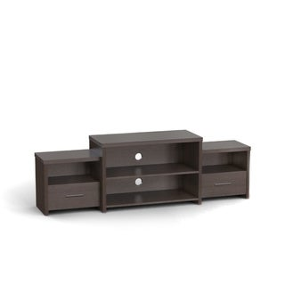Furniture of America Brixten Tiered Cappuccino Entertainment TV Console