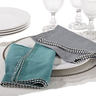 Beaded Border Design Napkin (set of 4)