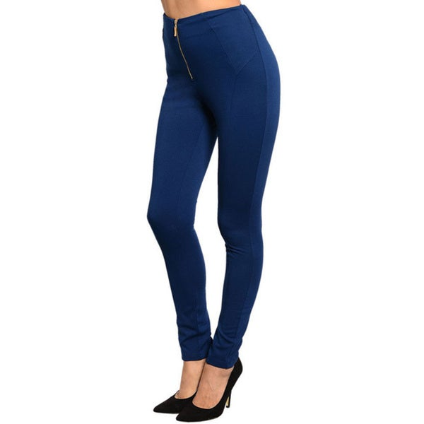 Stanzino Women's High-waist Front Zip Pants