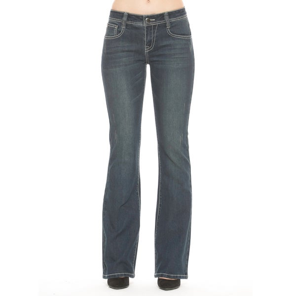 RED by Rose Royce Women's 'Pearla' Dark Wash Boot-cut Jeans